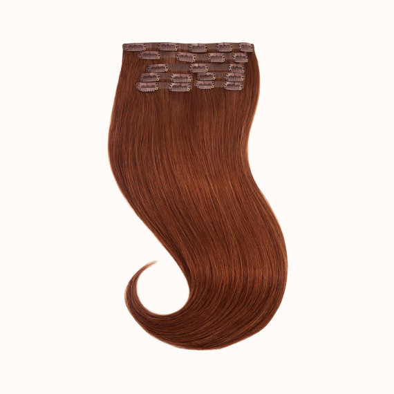 """Clips Red Brown Color 33H - Silver Line (22"""" inch)"""