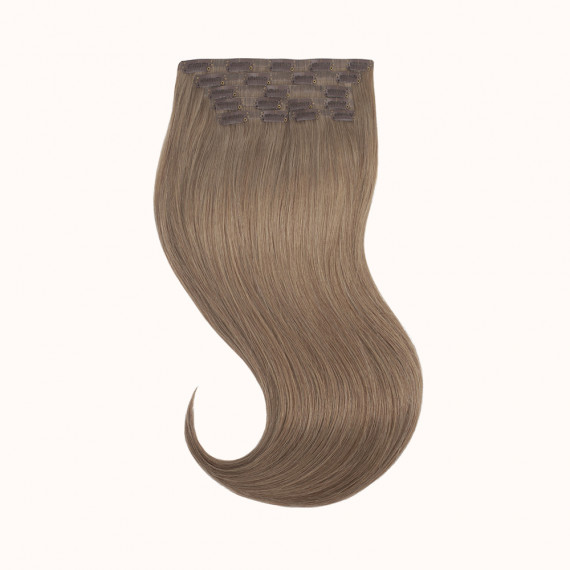 "Clips Light Brown Color 9C - Silver Line (22"" inch)"