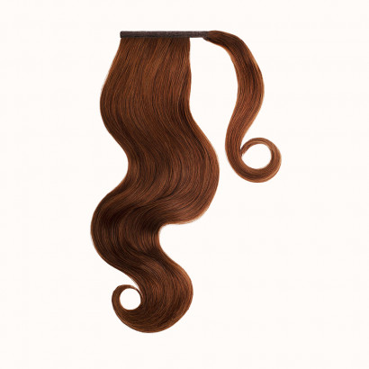 "Ponytail Red Brown Color 33H - Silver Line (22"" inch)"