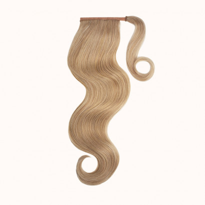 "Ponytail Light Brown Color 6C - Silver Line (22"" inch)"