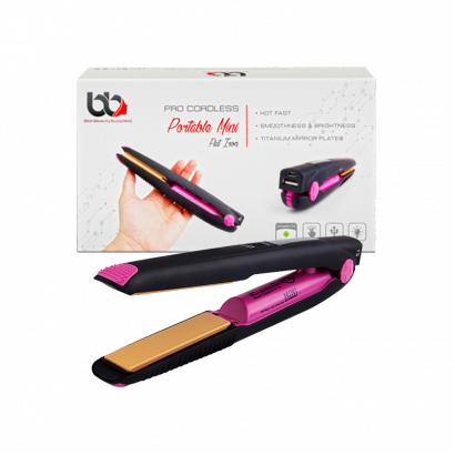 Mini Flat Iron with USB Charging Port